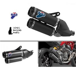 TERMIGNONI SILENCERS EXHAUST CARBON DUCATI MONSTER 1200  2016 MR 003CO 96480321A'