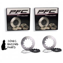 405.049.63 + 405.049.64 PFC BRAKES V3 UPGRADE 405 DISQUES NISSAN R35 GT-R 2011 2019