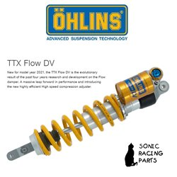 KT 2184 OHLINS TTX FLOW DV - PDS REAR SHOCK ABSORBER KTM 300 EXC SIX DAYS 2017 2021