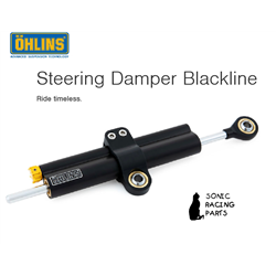 SD 008 OHLINS AMORTISSEUR DE DIRECTION BLACKLINE COURSE 68 (SUPPORT MONTAGE 02230-16)